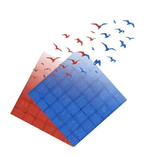 skysticker Produkt: Extrem leichte Textilien